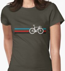 Bike Stripes Velodrome Women's Fitted T-Shirt