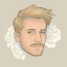 Men on Roses 2 - David by Curtis Bathurst