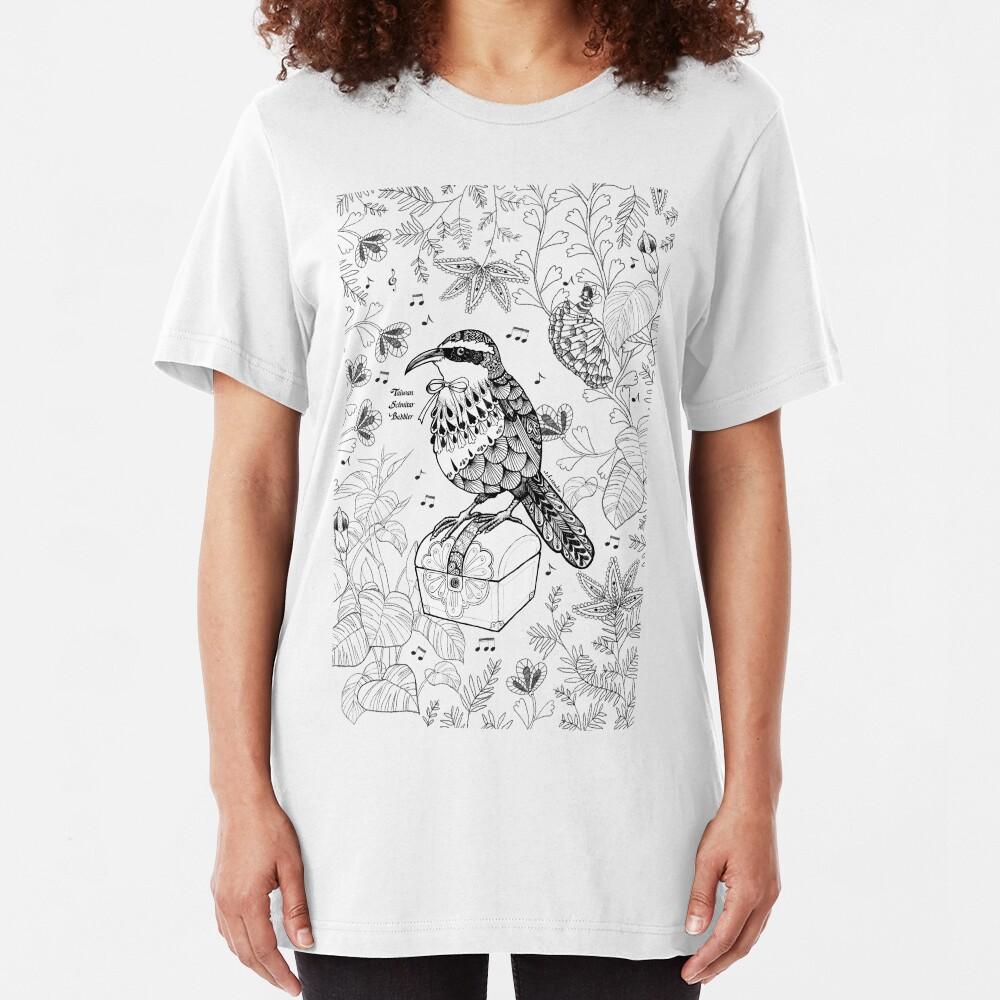 Taiwan Scimitar Babbler Slim Fit T-Shirt