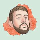 Men on Roses 5 - Kevin by Curtis Bathurst