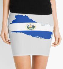 Flag Map of El Salvador  Mini Skirt