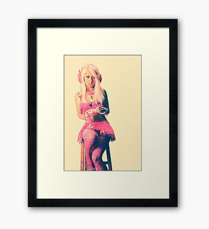 strawberry and lemon sherbet Framed Print