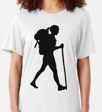 Wandern Mädchen Frau Slim Fit T-Shirt