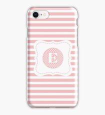 Striped Letter E iPhone Case/Skin