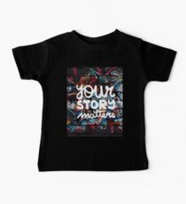colorful hip hop grunge your story matters graffiti  Baby Tee