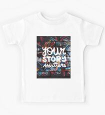 colorful hip hop grunge your story matters graffiti  Kids Tee