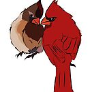 Two Cardinals in Love by rmcbuckeye