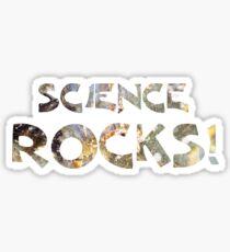 Cool Geeky Science Rocks Blue Slate Granite Sticker