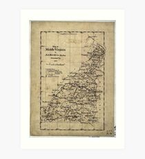 177 Map of middle Virginia Art Print