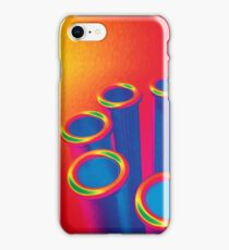 Colorful Pop Art Cylinders iPhone Case/Skin