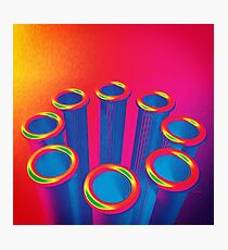 Colorful Pop Art Cylinders Photographic Print