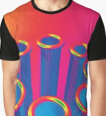 Colorful Pop Art Cylinders Graphic T-Shirt