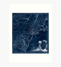 American Revolutionary War Era Maps 1750-1786 586 Map for the interior travels through America delineating the march of the army Inverted Art Print