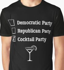 Democratic Republican Cocktail Party T Shirt Graphic T-Shirt