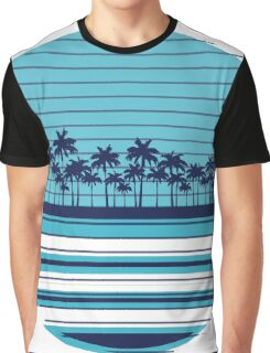 Palm trees blue beach Graphic T-Shirt