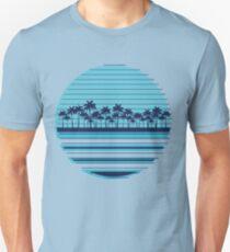 Palm trees blue beach T-Shirt