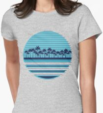 Palm trees blue beach T-Shirt