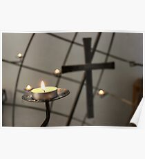 Candle and cross Poster