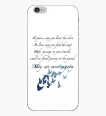 The Traveler's Blessing (May We Meet Again) iPhone Case