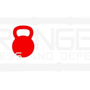 Granger Fitness and Defense Red And White Full logo by johngranger