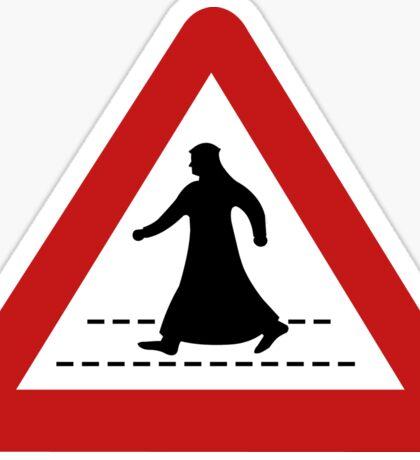 Pedestrian Crossing, Traffic Sign, United Arab Emirates Sticker