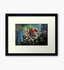 Girl and her Alpaca Framed Print