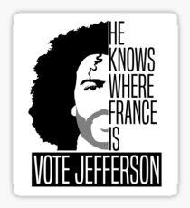 Vote For Jefferson Sticker