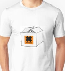 Irritating man peeks out of a box T-Shirt