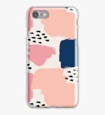 Pink, Navy and Black Abstract iPhone Case/Skin