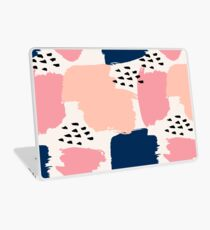 Pink, Navy and Black Abstract Laptop Skin