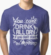 Drinking Party Starts Early St Patrick's Day Tri-blend T-Shirt