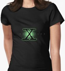 The X Files Logo Women's Fitted T-Shirt