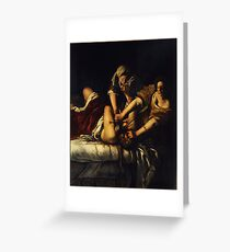 Judith Slaying Holofernes by Artemisia Gentileschi Greeting Card