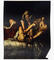 Judith Slaying Holofernes by Artemisia Gentileschi Poster
