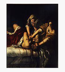 Judith Slaying Holofernes by Artemisia Gentileschi Photographic Print