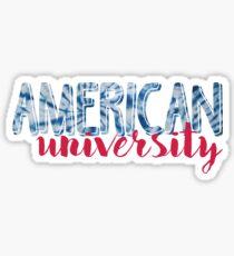 American University Tie Dye Sticker