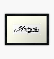 Skyrim Markarth Distressed Sports Lettering Framed Print