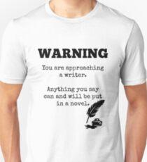 Approaching a Writer Unisex T-Shirt