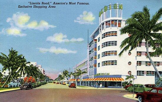 Fünfzigerjahre Art Miami Lincoln-Straße Exklusives Einkaufen von aapshop