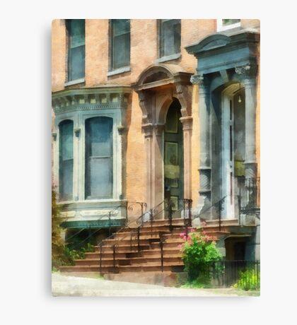 Albany NY Brownstone Canvas Print