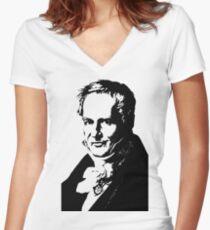 Alexander von Humboldt-3 Women's Fitted V-Neck T-Shirt