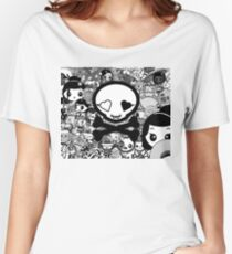 mikoto's Black & White Women's Relaxed Fit T-Shirt