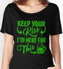 Funny St Patrick's Day Beer Drinking Humor Women's Relaxed Fit T-Shirt