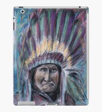 Geronimo with headdress colorful pastel iPad Case/Skin