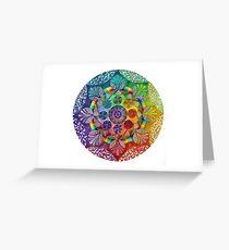 Mandala Artwork  Greeting Card