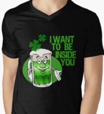 Green Beer Innuendo St Patrick's Day Men's V-Neck T-Shirt