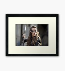 Lexa - The 100 - Season 3 Framed Print