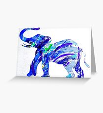 Happy Elephant 12 Greeting Card