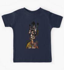 Basquiat African Skull Man Kids Tee