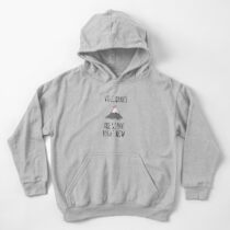 Volcanoes are so hot right now Kids Pullover Hoodie